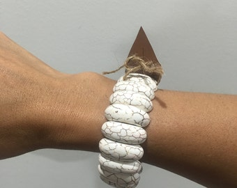 white fashion bangle
