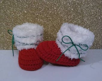 Christmas baby girl boots, Christmas baby boy boots, baby girl boots, baby boy boots, baby gift, baby shower gift, stocking stuffer, outfit