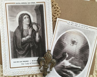 Petite Folder No.3 - Holy Card Images - Craft Project Packet