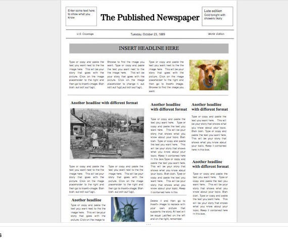 Google Doc Newspaper Template Gallery Template Design Ideas