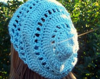 Crochet Slouchy Hat PDF Pattern -- The Melinda