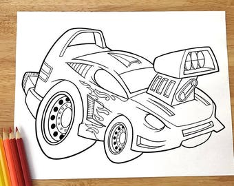 Awesome Cool Car Coloring Page! Downloadable PDF file!