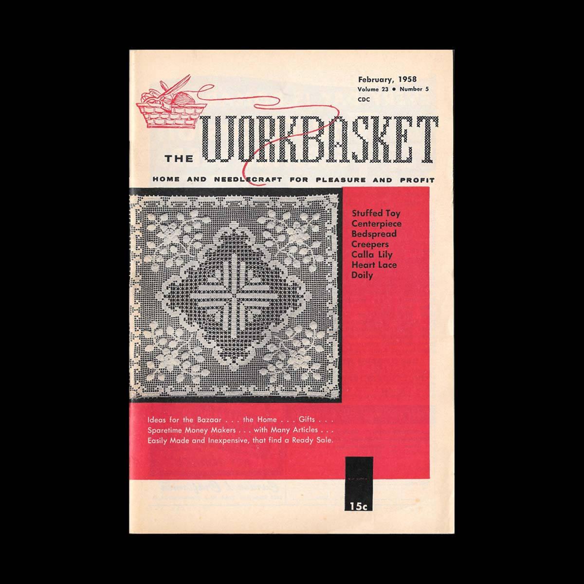 The Workbasket Vintage Craft Magazine c. February 1958