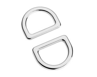 "30pcs - 1"" (25mm) Flat Zinc D-Ring - Nickel - (FDR-108) - Free Shipping"