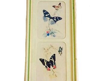 Vintage Turner, Wall Art, Butterfly Wall Decor, Turner Vintage, Wall Accessory, Framed Art, Housewarming Decor, 50s Decor, Retro Art