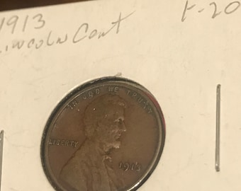 1913 Cent feine F20 tollen Details