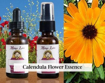 Calendula Flower Essence, 1 oz Dropper or Spray for Compassionate and Receptive Communication