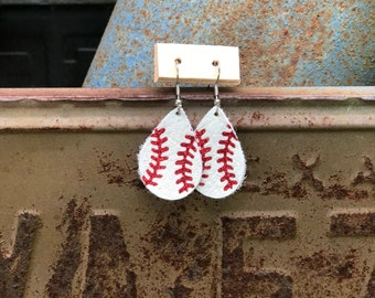 Mini Baseball Earrings