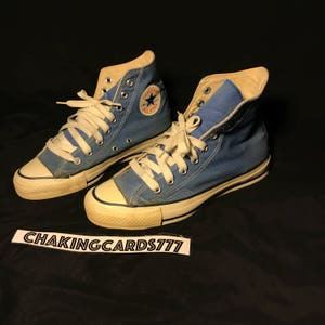 Vintage 80s Converse Blue All Star Chuck Taylor High Top Made In USA - Size  6