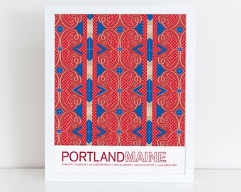 Portland, Maine travel poster