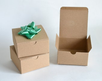 """Gift Boxes, Kraft Boxes, Brown Gift Boxes, Party Favor Boxes, Paper Boxes, Christmas Gift Boxes, Wedding Favor Boxes 10/pack 4x4x2"""""""
