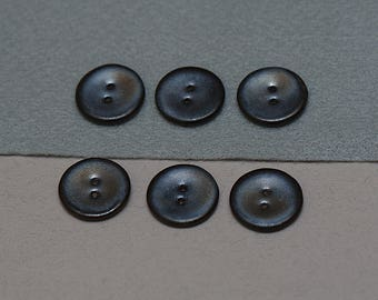 black ceramic buttons, ceramic buttons, six buttons, black buttons