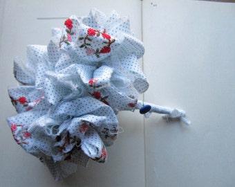Vintage Fabric Wedding Flower Bouquet