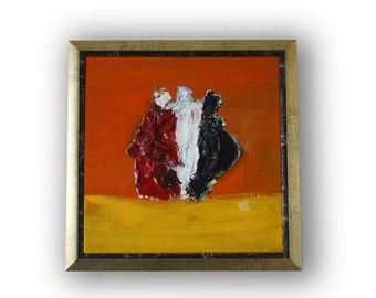 Abstract Art, Modern Painting, Abstract Square Figurative  Painting,Art Painting,Expressionism ,Wall Decor, Home Decor,Mixed media painting