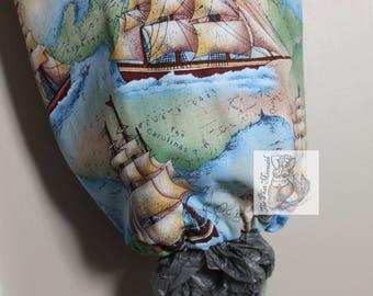 Ship Grocery Bag Holder // Bag Holder // Bag Dispenser // Plastic Bag Holder // Plastic Bag Dispenser