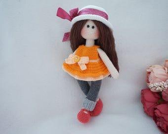 pretty doll crochet pattern / Doll crochet pattern (30cm)