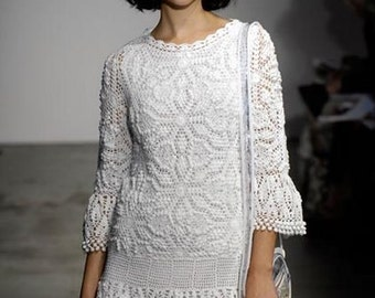 Exclusive  crochet wedding dress custom made, hand made, crochet  MADE TO ORDER