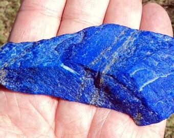 Lapis lazuli, raw stone 100% natural AAA quality, 76 g.