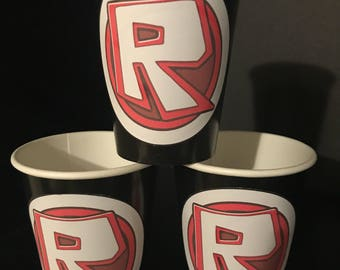12 Roblox Game Social Media Birthday Party Paper Cups 9 Ounces