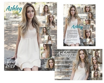 Seniors Yearbook Ads Templates - Ashley