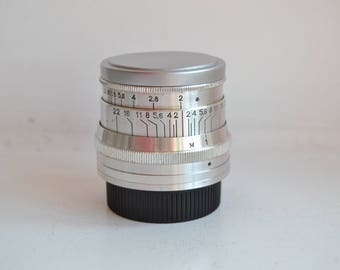 JUPITER-8 2/50 Russian Lens M39 Fed Leica Sony NEX S/N 6288844, 1962 year!