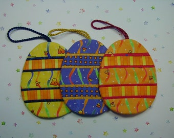 Easter Egg Ornaments (EEO3A) Set of 3