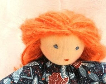 Waldorf doll, 11inch, 28cm, for all ages, made of natural materials