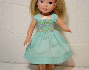 Smocked Dress for American Girl Wellie Wisher dolls