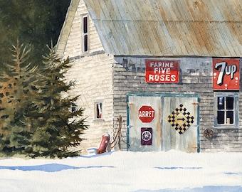 No 31, Carte de Noël, aquarelle, Christmas card, watercolor