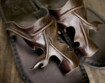 Handmade Leather Sandals Women and Men***Stump design***
