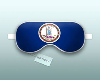 Sleep Mask Virginia Flag - The Old Dominion, Sleeping Mask, Comfortable Eye mask, light-blocking mask. Proud to be an American!
