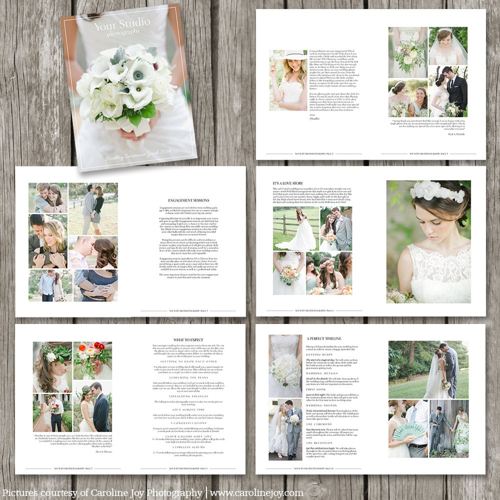 Wedding Photography Magazine Template Page Digital - Wedding photography brochure template