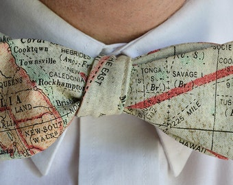Map Bow Tie, Map Bowties, Map Bowtie, Self Tie Bowtie, Mens Bow Tie, Mens Bowties, Wedding Bowtie, Prom Tie, Bowties for Men, Map Bow Ties