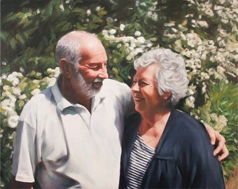 Custom Painting on Canvas from Your Photo - Personalized Family Portrait - Pre-Stretched