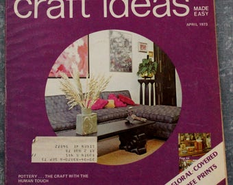 Decorating Craft Ideas Make Easy April 1973