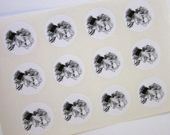 Mark Twain Stickers One Inch Round Seals