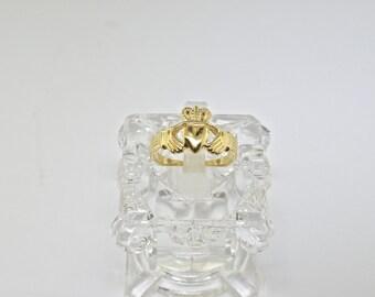 14k Irish Claddagh Ring. Size 6