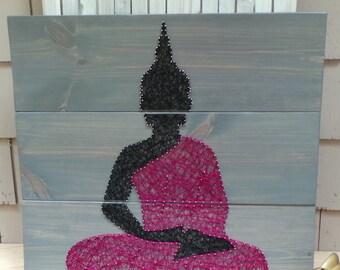 "Buddha Silhouette - Set of 3 boards - 30"" x 30"""