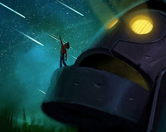 Iron Giant (poster) 12x18 - illustration, concept, digital art