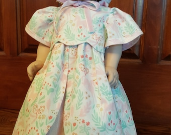 """18""""doll clothes/18 inch doll clothes/Dress/Bonnet/18""""American Girl clothes/Daisy Kingdom/AG Clothes"""