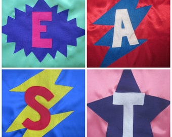 Personalized Superhero Kids Cape ,Superhero Costume, Party Favor, Birthday Gift, Christmas Gift, Halloween Costume