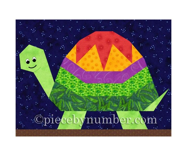 Turtle quilt block pattern paper piecing quilt patterns : animal baby quilt patterns - Adamdwight.com