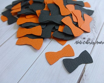 Bow Tie Baby Shower Decor, Bow Tie Confetti, Black and Orange Its A Boy, Little Man Party Idea, Wall Decor, First Birthday, 1inch Set of 200