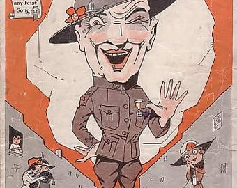Johnny's In Town, 1919 Sheet Music, World War I - Patriotic - Wartime