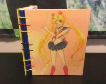 Sailor Moon Blank Sketchbook Notebook Journal Diary