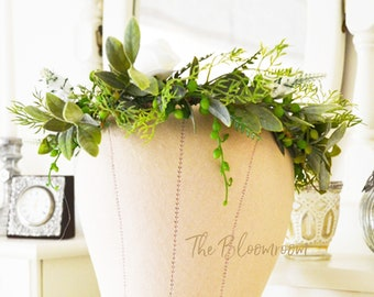 woodland flower crown woodland wedding white rose mixed foliage forest artificial flowers baby shower crown country bride earthy greenery