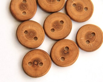 "8 small cherry buttons - 3/4"" across"