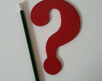 Trivet question mark in wood, varnish special heat