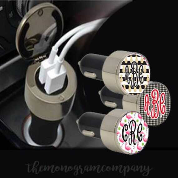 Personalized USB Car Charger-Monogram Car Accessories-Car