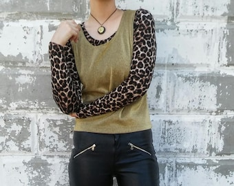 Metallic Gold Shell Vest Tank